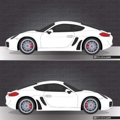 Porsche 981 Cayman Stone Guards