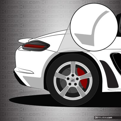 Porsche 718 Boxster Rear Splash Guards