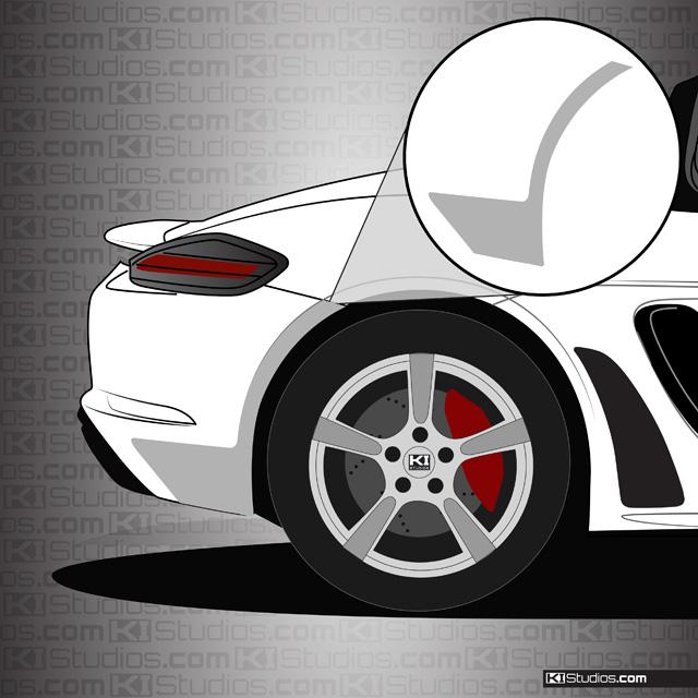 Porsche 718 Boxster Rear Splash Guards