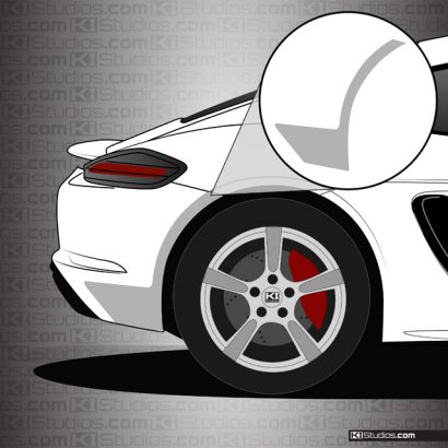 Porsche 718 Cayman Rear Splash Guards