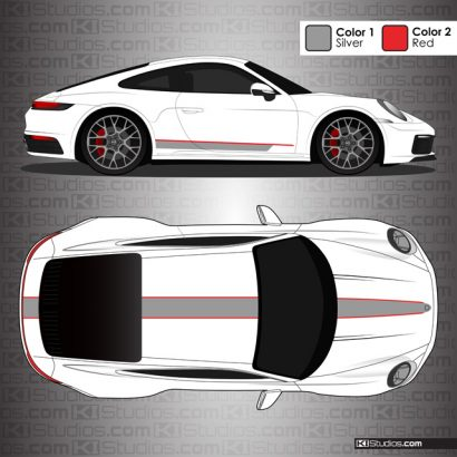 Porsche 992 Carrera Stripe Kit 001