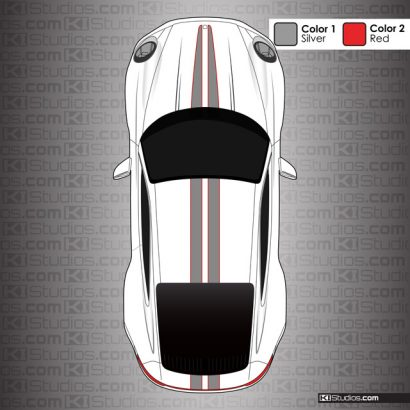 Porsche 992 Carrera Tapered Top Stripes Kit 008