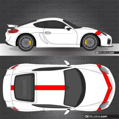 Porsche 981 Cayman GT4 KI Studios Stripe Kit 009