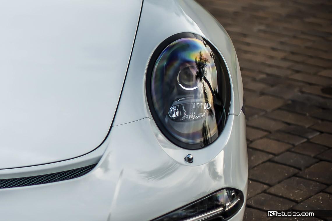 Porsche Headlight Trim Black - Close Up
