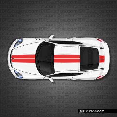 Porsche 718 GT4 Stripe kit 009