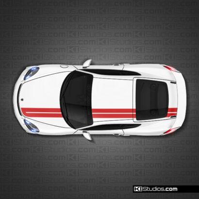 Porsche 718 GT4 Stripe kit 010