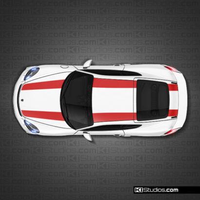 Porsche 718 GT4 Top Stripe kit 001