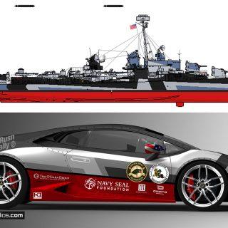 Navy Lamborghini Huracan Livery Design