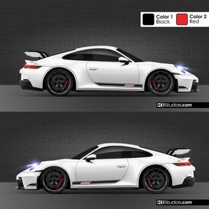 Porsche 992 GT3 4.0 side stripe